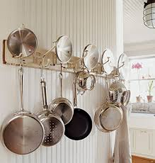 kitchen design ideas wall pots and pans rack design kitchen pot