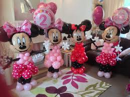 minnie mouse balloon decoration baby shower balloon columns