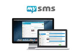 text from computer tablet and smartphone with our mysms apps mysms