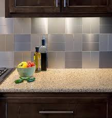 stick on kitchen backsplash simple brilliant metallic backsplash tiles peel stick peel and