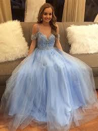 light blue formal dresses light blue off shoulder tulle prom dress light blue formal dress