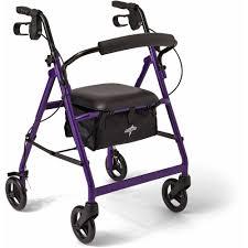 senior walkers with seat karman 4 wheeled knee walker walmart