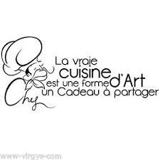 stickers texte cuisine sticker mural texte la vraie cuisine est une forme d