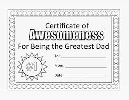 fathers day coloring pages certificate holiday free images of