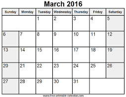printable december 2016 calendar pdf printable march 2016 calendar fort pierce central