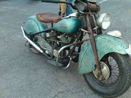 indian motorcycle 1948 chief nice barn fresh old paint for restore
