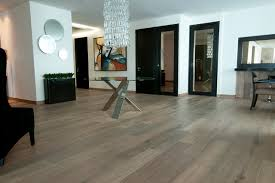 chateau antique white wood floors in residence contemporary