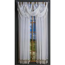 Sheer Curtains With Valance Rajah Tab Curtain Panel And Valance Shopbedding