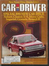 mazda car and driver car driver ferrari 308gtbi road test mazda glc renault r5 10 1980