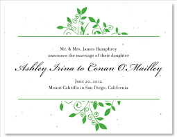wedding announcement cards wedding announcement cards on seeded paper andromeda s vine by
