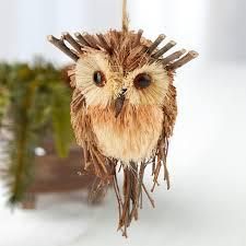owl ornaments woodland twig artificial owl ornament christmas ornaments