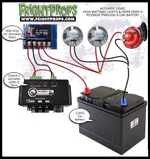 activating 12vdc car lights u0026 horns from a picoboo frightprops