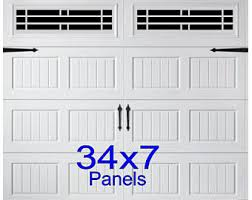 carriage house style vinyl garage door decal kit faux windows