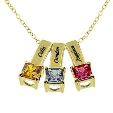 Name Charms For Necklaces Monogramonline Birthstone Necklaces