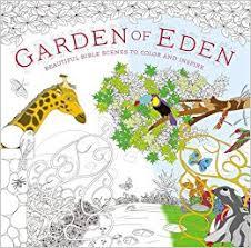 garden eden coloring book beautiful bible scenes color