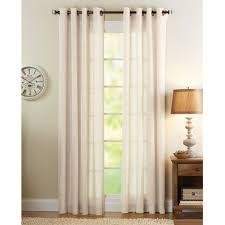 better homes and gardens semi sheer window panel bleached linen