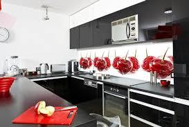 Red Black White Kitchen - modern kitchen cabinets for amazing kitchens decor crave