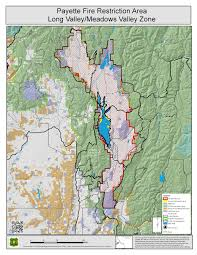 Idaho Road Map Idaho Fire Information Payette Fire Restrictions Area