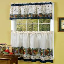 Curtain For Kitchen Window Decorating Astonishing Kitchen Window Valance Or Curtains With Fruit For