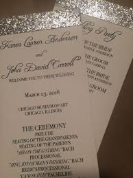 print wedding programs invitation glitter wedding programs printed 2487432 weddbook