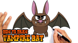 how to draw halloween vampire bat drawing lesson youtube