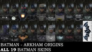 batman arkham origins all 19 batman skins on pc including ps3