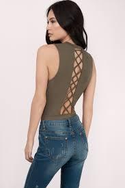 trendy olive bodysuit lace up bodysuit olive bodysuit 14