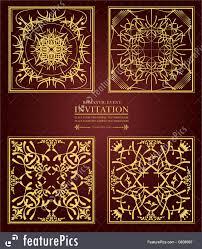 gold ornate design on brown background
