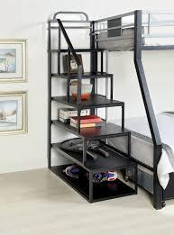 Black Bunk Bed With Desk Amazonsmile Furniture Of America Metal Bunk Bed Side Ladder