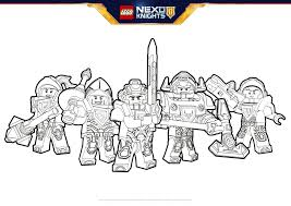 nexo knights heroes formation 02 colouring page activities