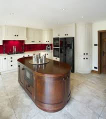 exellent white kitchen red tiles grey designs mahogany varnished