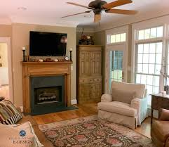 benjamin moore lenox tan warm beige paint colour in living room