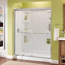 How To Install Sliding Shower Doors Delta Crestfield 60 In X 70 In Semi Frameless Sliding Shower