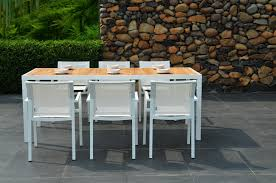 White Patio Dining Set by Modern Furniture Modern Outdoor Dining Furniture Large Cork