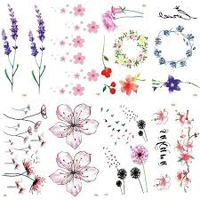 fiori disegni kesmall 30 scheda multi disegni di fiori impermeabile autoadesivo