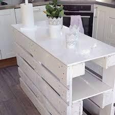 table de cuisine en palette diy déco un ilot de cuisine à faire avec 3 fois rien cuisine en