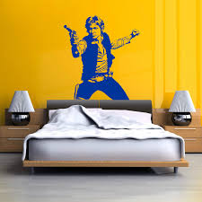 d263 star wars han solo vinyl wall art decal sticker room decal easily adhesive straight to the wall door mirror or any smooth surface you want made with high quality removable and waterproof pvc