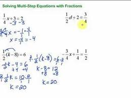 lesson 7 3 solving multi step equations with fractions youtube