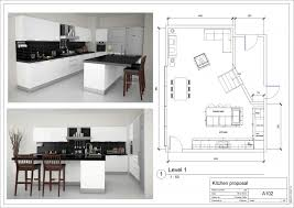 l shaped kitchen floor plans with wooden or marble flooring tile