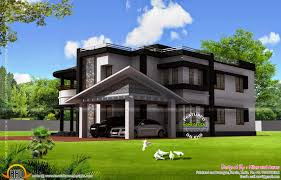 Kerala Home Design Flat Roof Elevation by House Plan And Elevation By The Miles And Acres Kerala Home
