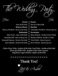 black and white wedding programs 12 best wedding programs images on wedding printable
