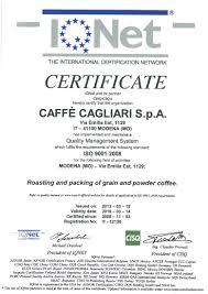certifications caffè cagliari
