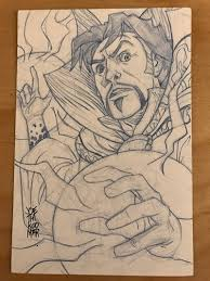 doctor strange sketch card by hyperjack08 on deviantart
