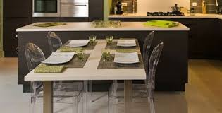 table de cuisine amovible ilot central table escamotable mi casa mi cocina