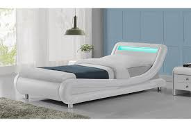 king headboard with lights madrid led lights modern designer white bed frame single double
