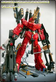 mg 1 100 full armor unicorn gundam ver ka red color custom
