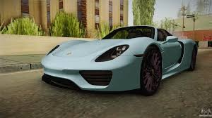 porsche 918 porsche 918 for gta san andreas