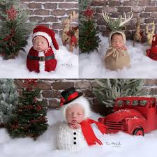 these 17 newborns wearing knitted christmas will fill your