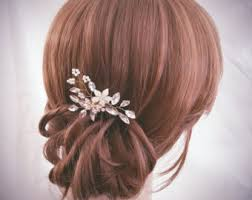 bridal hair clip wedding hair accessories etsy