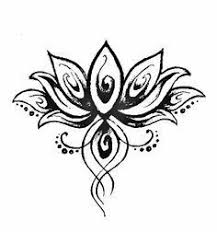 Simple Lotus Flower Drawing - what if i cut shapes of a lotus flower out and braded the design